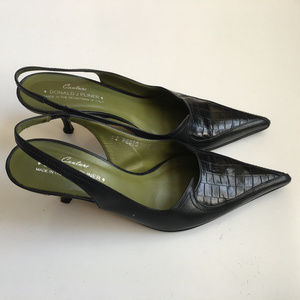 Donald J Pliner Couture Sling Back Pointy Toe Heel